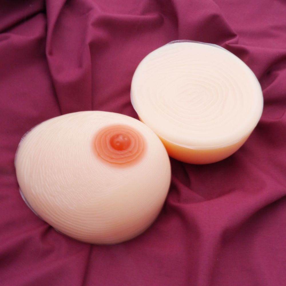 <!-- 006 -->Sexy False Breasts Teardrop Style 2 - Silicone Breast Form Pros