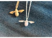 Charity Silver Bee Necklace