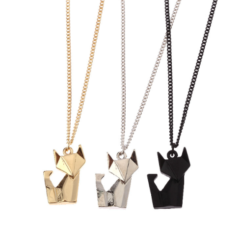 Geometric Fox Charity Necklace