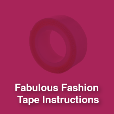 Boobylicious Tape Instructions