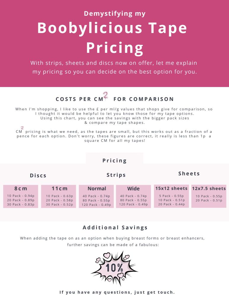 Boobylicious Pricing 2