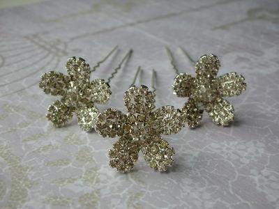Delphine Diamante Hair Pins (Set of 3)