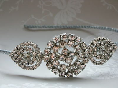Lucia Bridal Tiara - Diamante Side Tiara