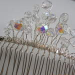Crystal Bead Wedding Comb     £18