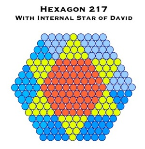 Hexagon 217 Star of David 121