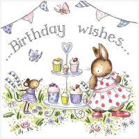 Birthday Wishes cake stand