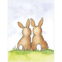 Two bunnies - gift card
