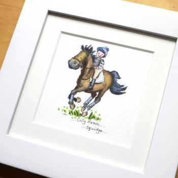 Mini Horse Portrait watercolour