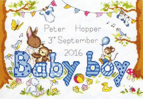 Bunny Love - boy Cross stich kit