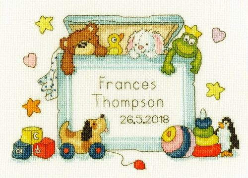 Toy box cross stitch kit