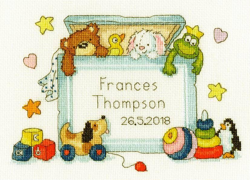 Toy box cross stitch kit