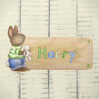 Cut out bunny door plaque