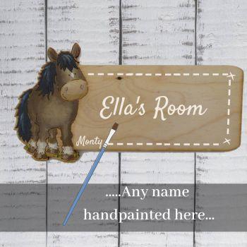 Cut out pony plaque