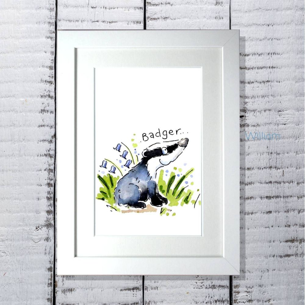 Woodland animals nursery print decor individual