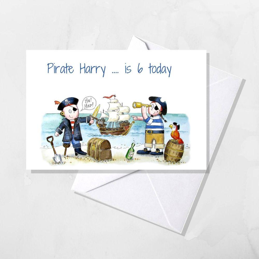Pirate Personalised card