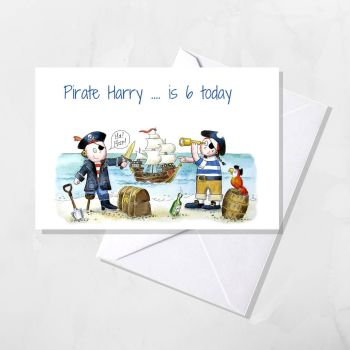 Pirate Personalised card