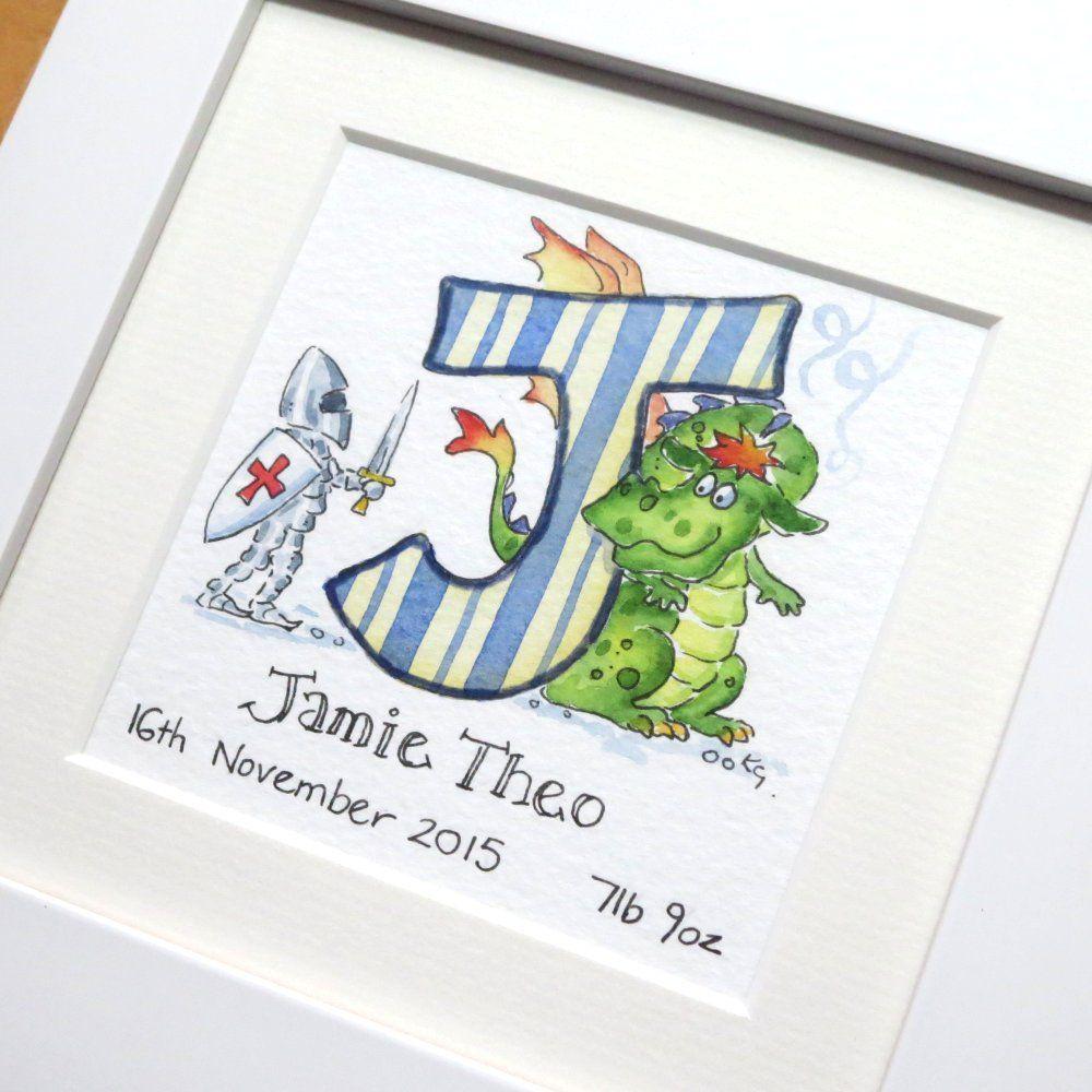 J for jamie framed