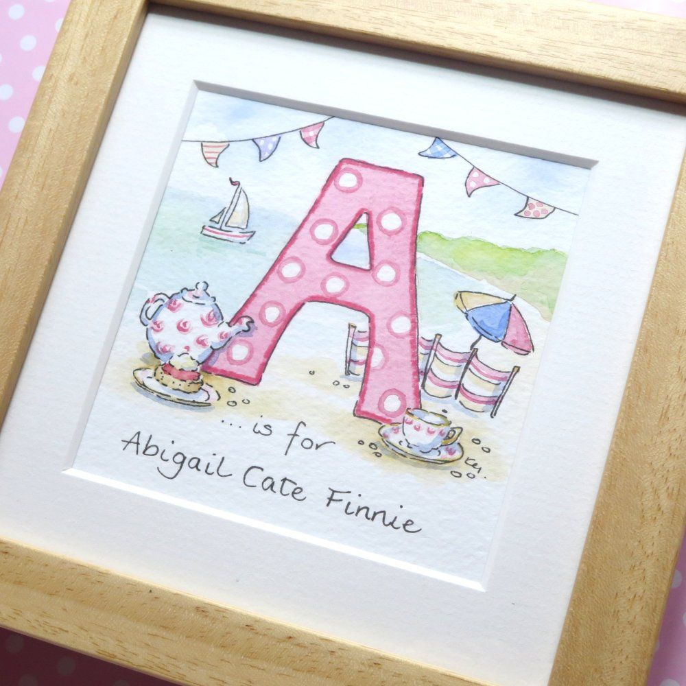 A for Abigail framed