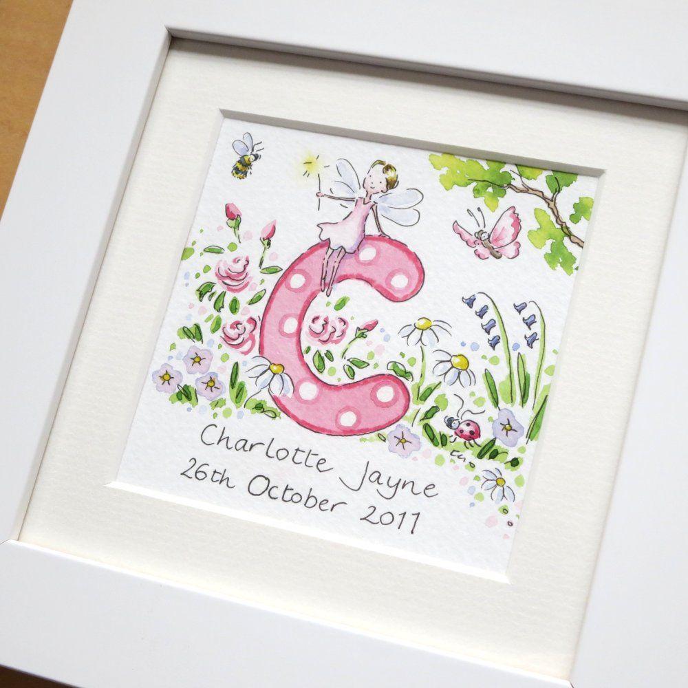 C for Charlotte Jayne framed