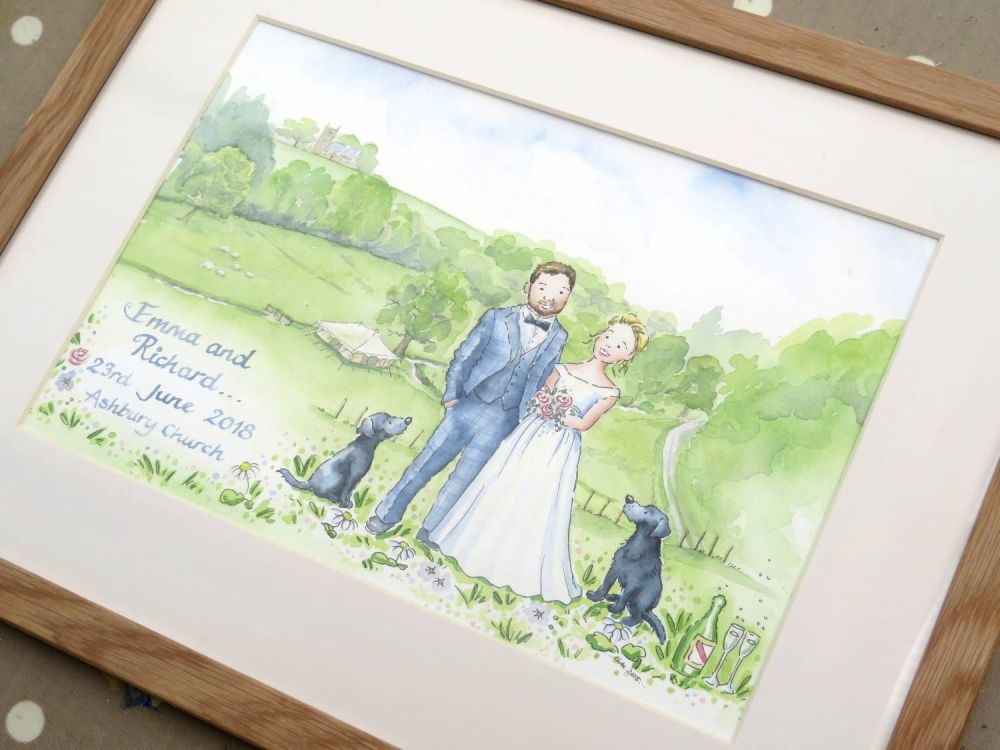 16 by 12 framed Wedding picture