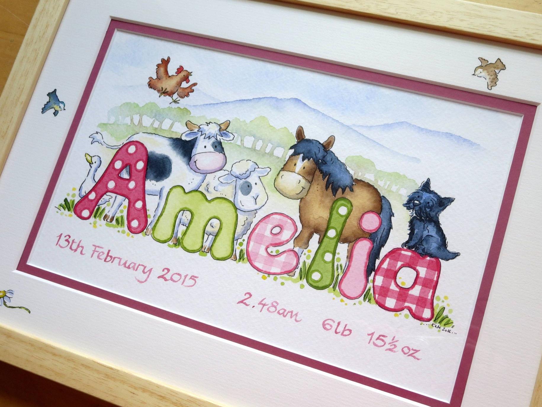 Amelia framed