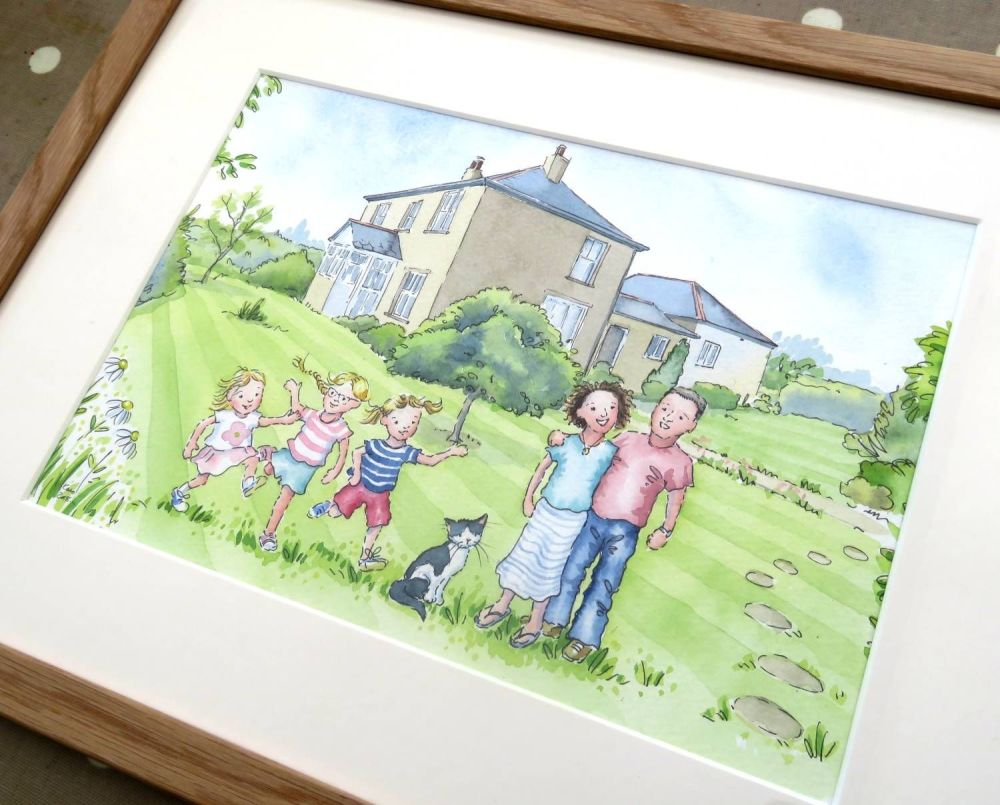 <!--030-->House painting framed