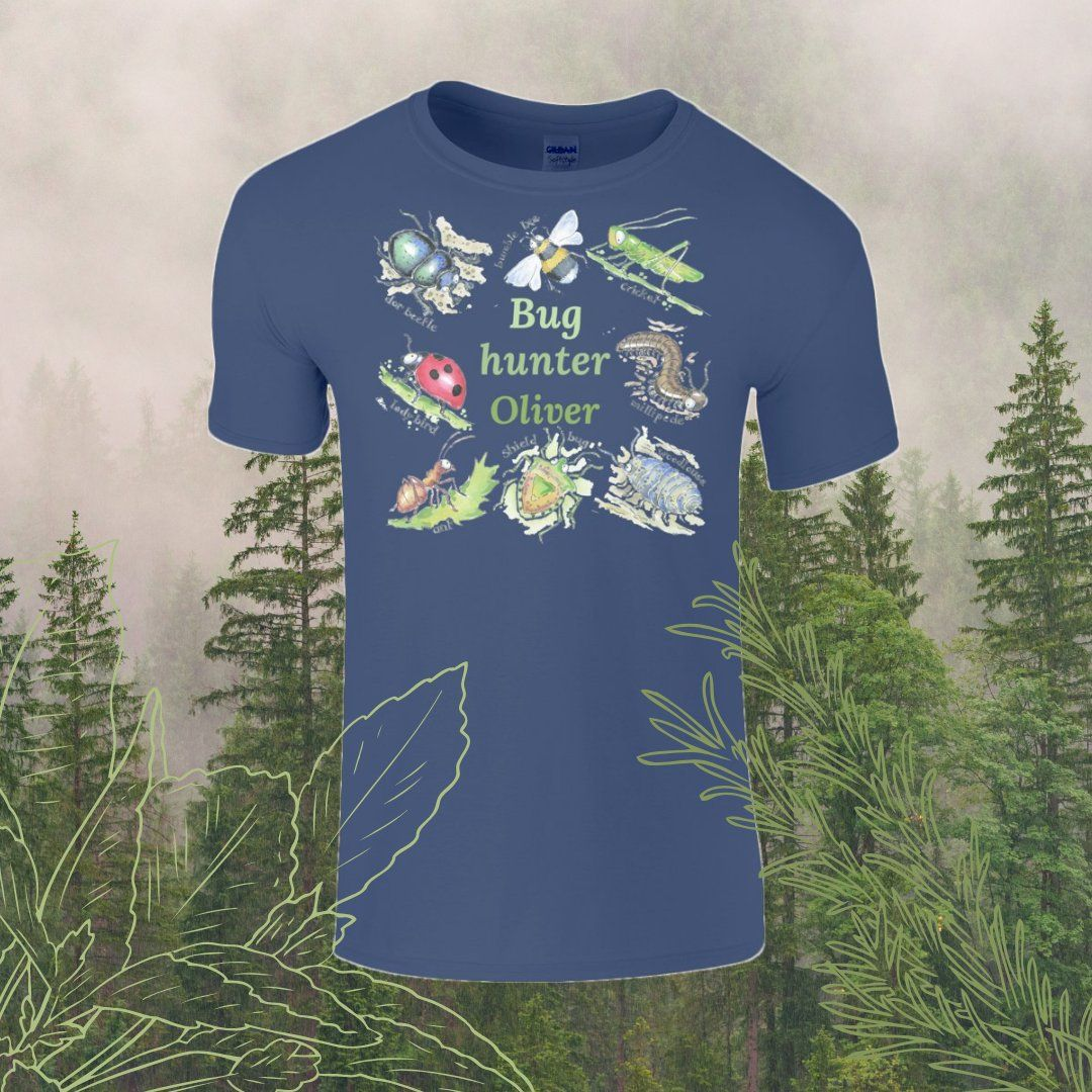 Bug hunter personalised Child's T-shirt
