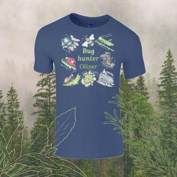 Bug hunter personalised Child's T-shirt