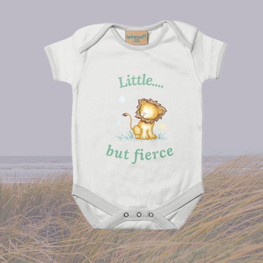 Lion  Little...but fierce babygrow / bodysuit