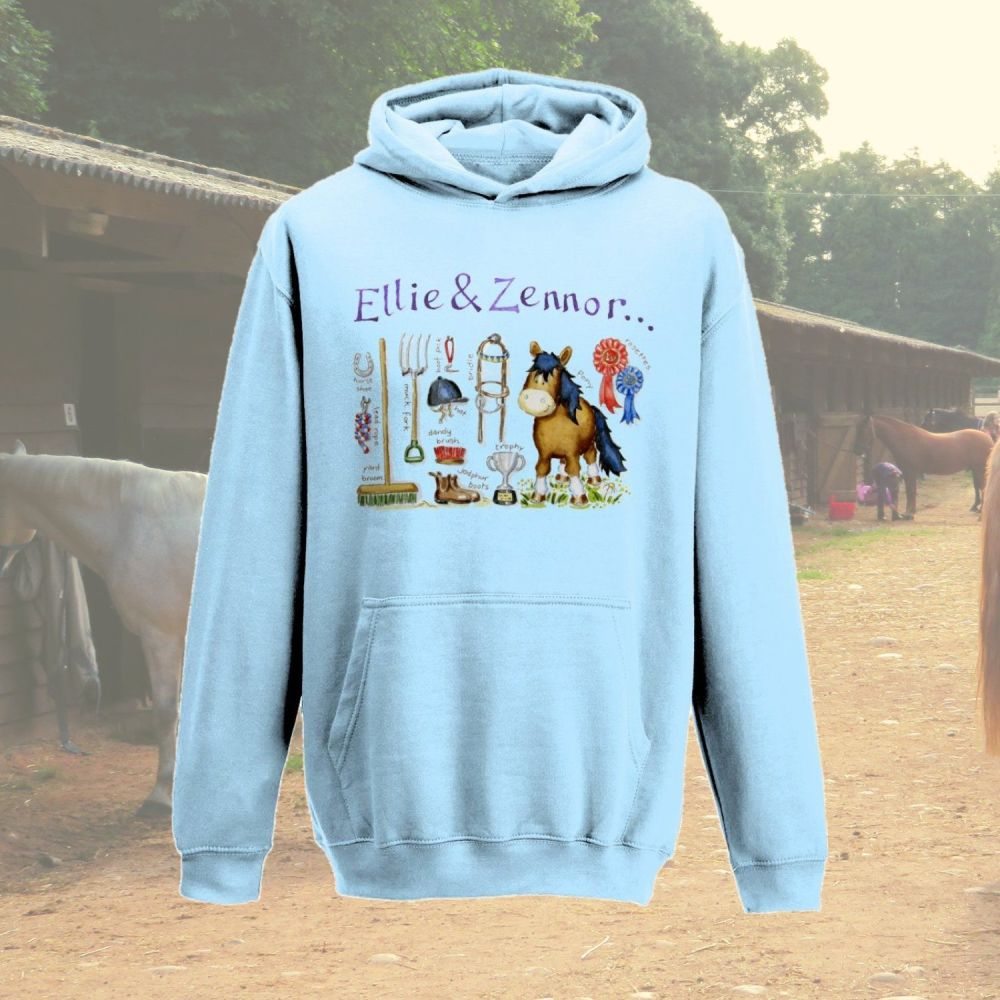 'Pony things' personalised child's hoodie