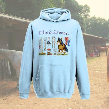'Pony things' personalised child's hoodie