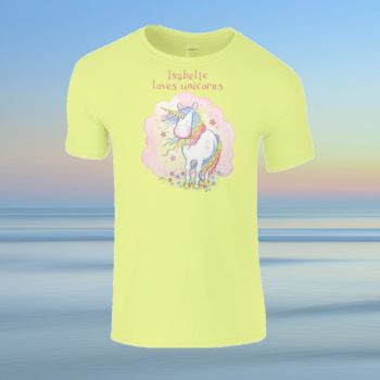 Unicorn personalised Child's T-shirt