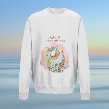 Unicorn sweatshirt - personalised