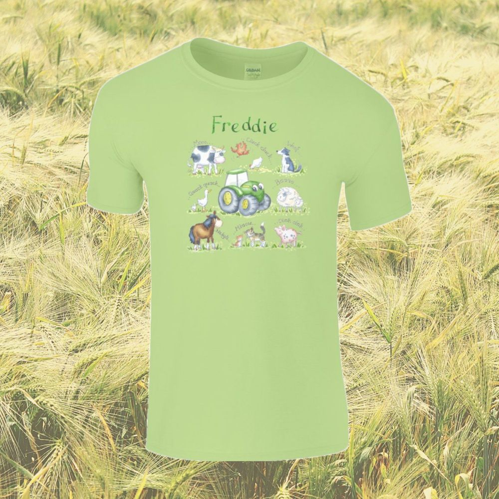 'Farm' Personalised Child's T-shirt