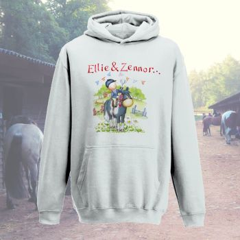 'At the horse show' personalised child's hoodie