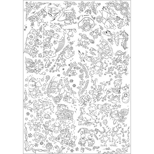 THE SEASONS COLOUR-IN TABLECLOTH