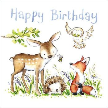 Happy birthday (Woodland animals)