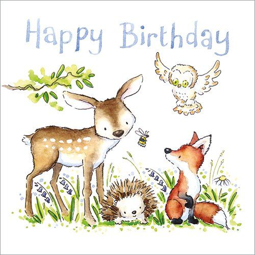 Happy birthday (Woodland animals)