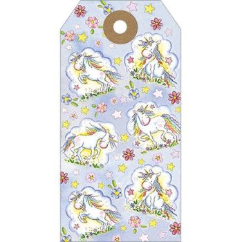 Unicorns gift tags set of five