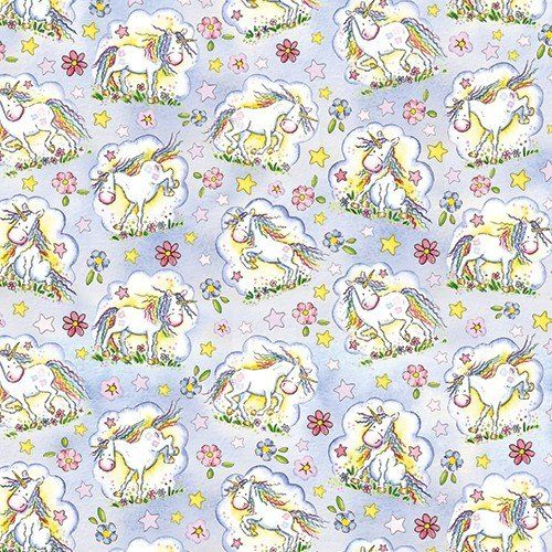 Unicorns gift wrap sheet