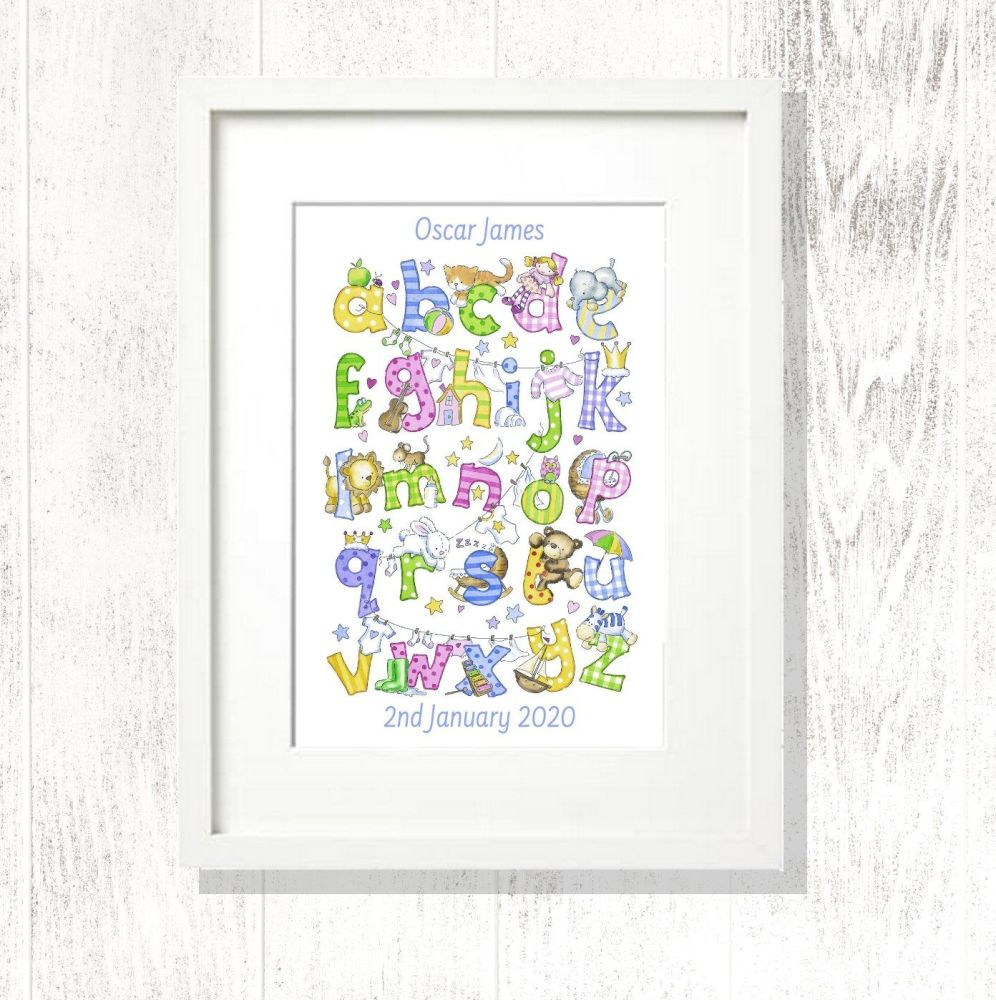 ABC personalised print