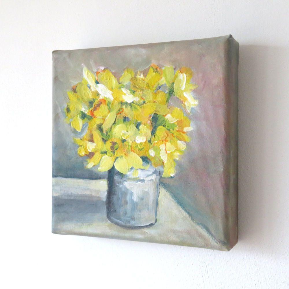 Daffodils on canvas
