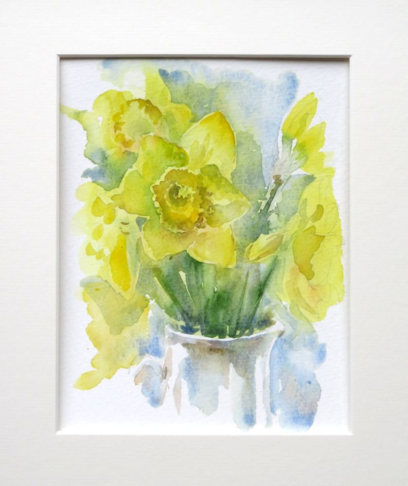Daffodils  watercolour