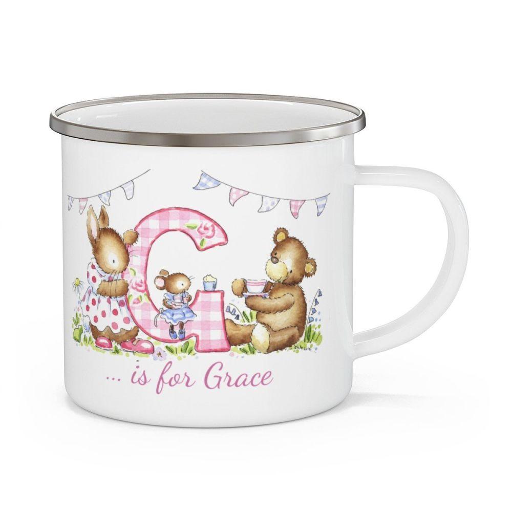 Enamel initial mug