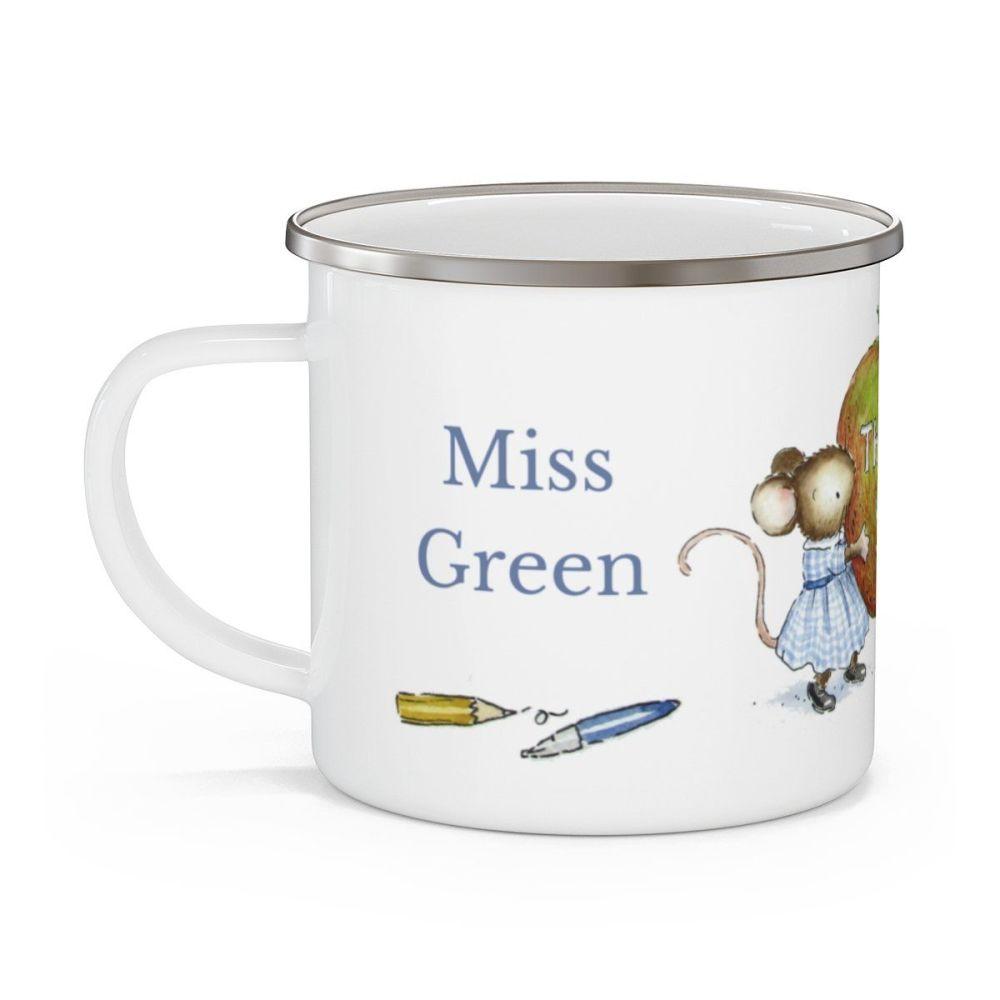 Enamel teacher  mug