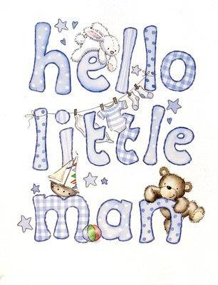 <!--020-->Hello Little Man - new baby boy