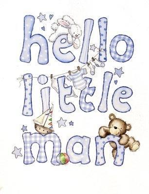 <!--020-->Hello Little Man - new baby boy