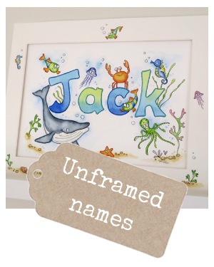 <!-- 020 -->Watercolour Name Paintings Unframed