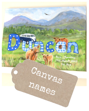 <!-- 070 -->Canvas Name Paintings