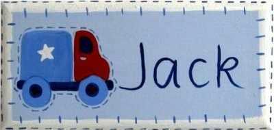 Door plaque for a boy